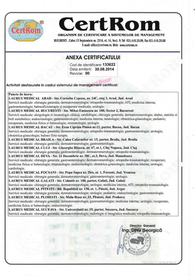 certificare iso laurusmedical